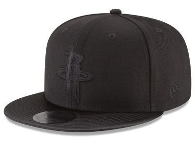 Houston Rockets NBA Blackout Satin 9FIFTY Snapback Cap
