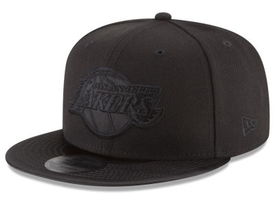 Los Angeles Lakers New Era NBA Blackout Satin 9FIFTY Snapback Cap