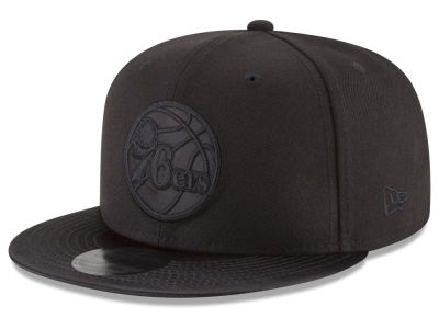 Philadelphia 76ers New Era NBA Blackout Satin 9FIFTY Snapback Cap