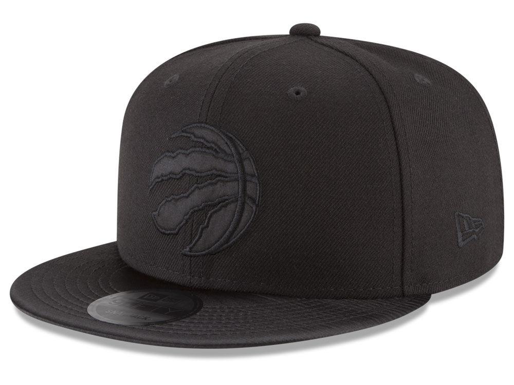 7a2a85d71b7 Toronto Raptors New Era NBA Blackout Satin 9FIFTY Snapback Cap ...