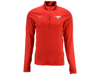 Southern Methodist Mustangs NCAA Men's Solid Dri-Fit Element Quarter Zip Pullover