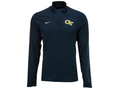 Georgia-Tech Nike NCAA Men's Solid Dri-Fit Element Quarter Zip Pullover