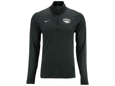 Nevada Wolf Pack Nike NCAA Men's Heather Dri-Fit Element Quarter Zip Pullover