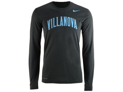 Villanova Wildcats Nike NCAA Men's Dri-Fit Legend Wordmark Long Sleeve T-shirt