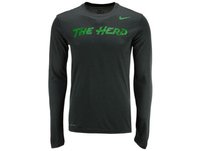 Marshall Thundering Herd Nike NCAA Men's Dri-Fit Legend Wordmark Long Sleeve T-shirt