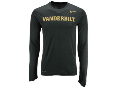 Vanderbilt Commodores Nike NCAA Men's Dri-Fit Legend Wordmark Long Sleeve T-shirt