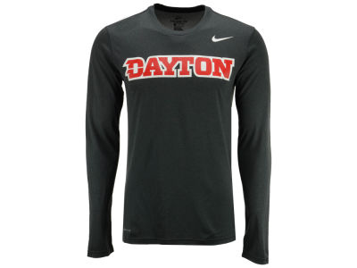 Dayton Flyers Nike NCAA Men's Dri-Fit Legend Wordmark Long Sleeve T-shirt