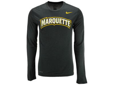 Marquette Golden Eagles Nike NCAA Men's Dri-Fit Legend Wordmark Long Sleeve T-shirt