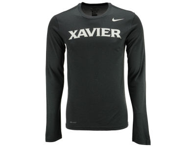 Xavier Musketeers Nike NCAA Men's Dri-Fit Legend Wordmark Long Sleeve T-shirt
