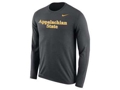 Appalachian State Mountaineers Nike NCAA Men's Dri-Fit Legend Wordmark Long Sleeve T-shirt
