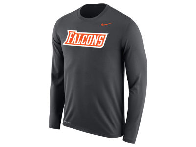 Bowling Green Falcons Nike NCAA Men's Dri-Fit Legend Wordmark Long Sleeve T-shirt