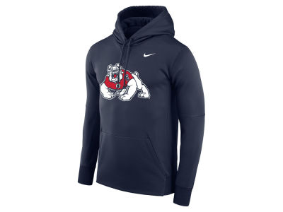 Fresno State Bulldogs Nike NCAA Men's Therma Logo Hoodie