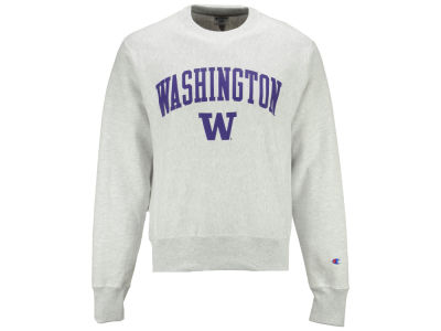 Washington Huskies Champion NCAA Men's Reverse Weave Crew Sweatshirt