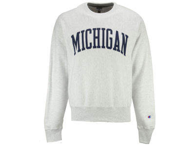 Michigan Wolverines Champion NCAA Men's Reverse Weave Crew Sweatshirt