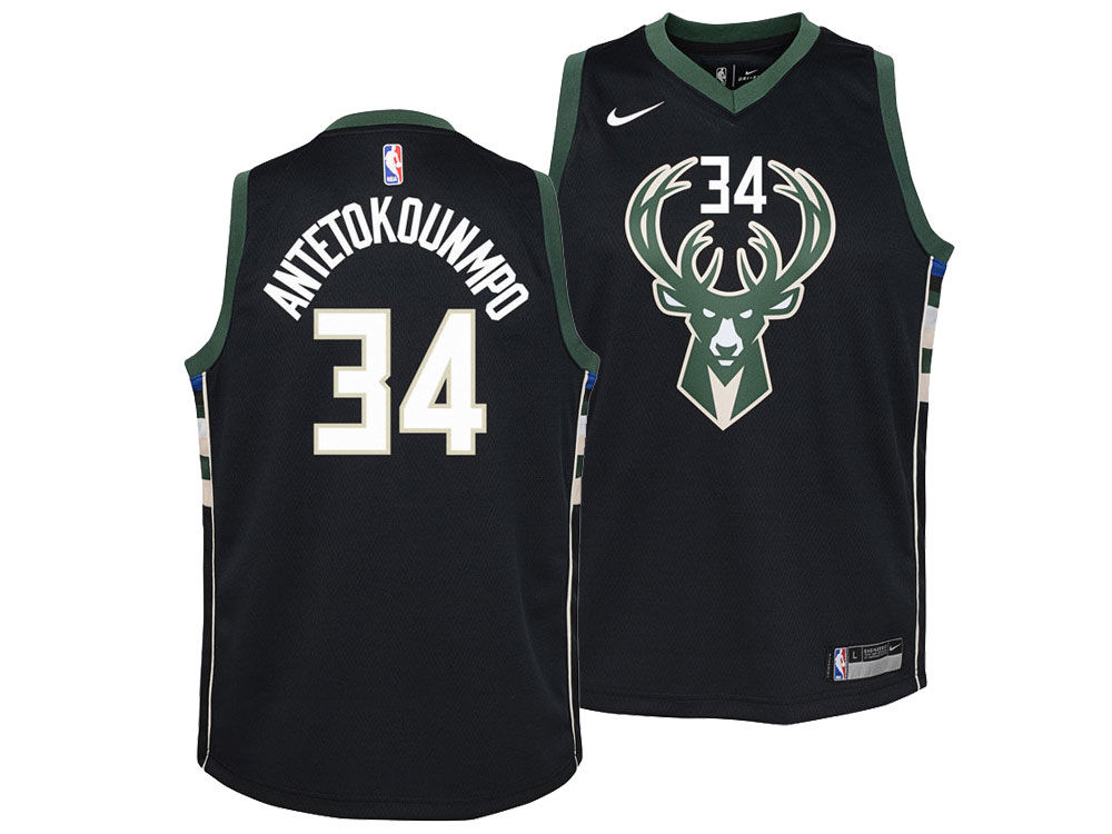 Milwaukee Bucks Giannis Antetokounmpo Nike NBA Youth Statement Swingman  Jersey  8c4ebc665