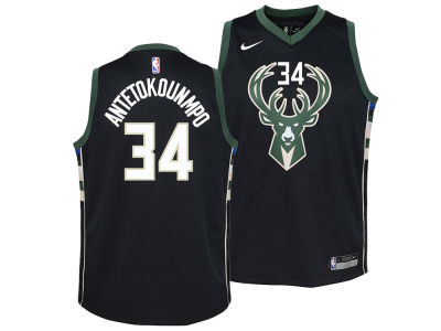 Milwaukee Bucks Giannis Antetokounmpo Nike NBA Youth Statement Swingman Jersey