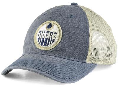 6b92ed7ab07 Edmonton Oilers adidas NHL Sun Bleached Slouch Cap