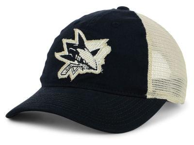 buy online b74a8 426bb San Jose Sharks adidas NHL Sun Bleached Slouch Cap