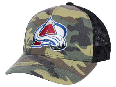 hot sale online 81e9c f4a23 Colorado Avalanche adidas NHL Camo Trucker Cap