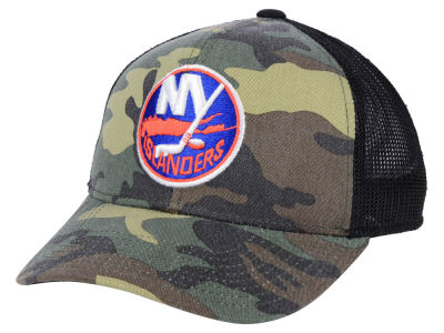 New York Islanders adidas NHL Camo Trucker Cap