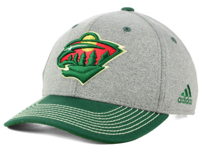 Minnesota Wild adidas NHL Heather Line Change Cap