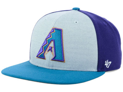 Arizona Diamondbacks '47 MLB Heather Front Coop Snapback Cap