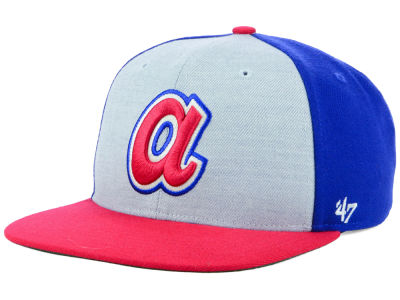 Atlanta Braves '47 MLB Heather Front Coop Snapback Cap