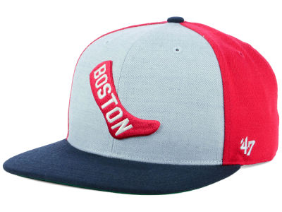 Boston Red Sox '47 MLB Heather Front Coop Snapback Cap