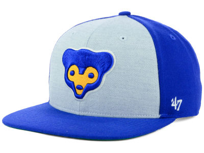 Chicago Cubs '47 MLB Heather Front Coop Snapback Cap
