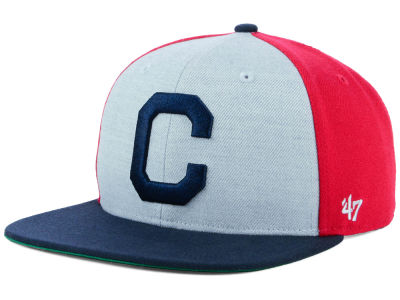 Cleveland Indians '47 MLB Heather Front Coop Snapback Cap