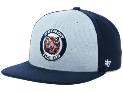 Detroit Tigers '47 MLB Heather Front Coop Snapback Cap