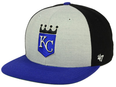 Kansas City Royals '47 MLB Heather Front Coop Snapback Cap