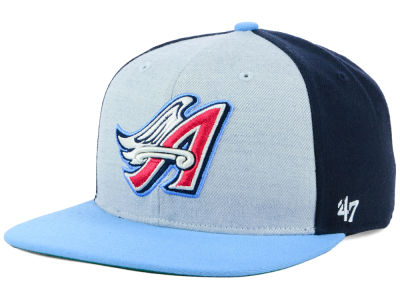 Los Angeles Angels '47 MLB Heather Front Coop Snapback Cap