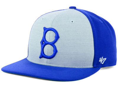 Brooklyn Dodgers '47 MLB Heather Front Coop Snapback Cap