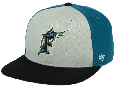 Florida Marlins '47 MLB Heather Front Coop Snapback Cap