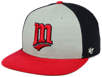 Minnesota Twins '47 MLB Heather Front Coop Snapback Cap