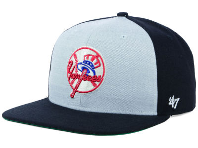New York Yankees '47 MLB Heather Front Coop Snapback Cap