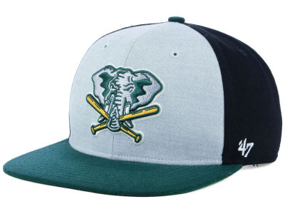 Oakland Athletics '47 MLB Heather Front Coop Snapback Cap