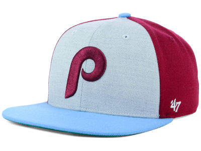 Philadelphia Phillies '47 MLB Heather Front Coop Snapback Cap