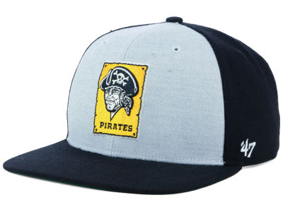 Pittsburgh Pirates '47 MLB Heather Front Coop Snapback Cap