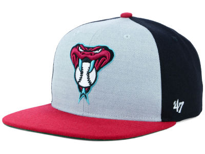 Arizona Diamondbacks '47 MLB Heather Front Snapback Cap