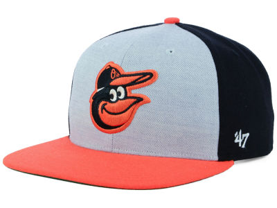 Baltimore Orioles '47 MLB Heather Front Snapback Cap