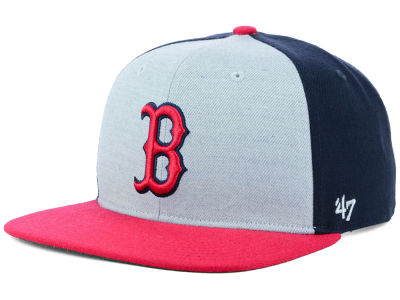boston red sox 47 mlb heather front snapback cap