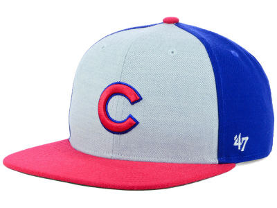Chicago Cubs '47 MLB Heather Front Snapback Cap