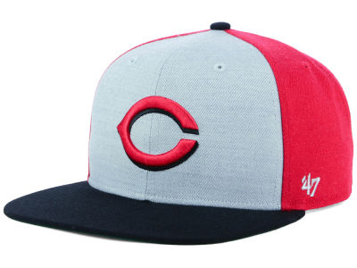 Cincinnati Reds '47 MLB Heather Front Snapback Cap