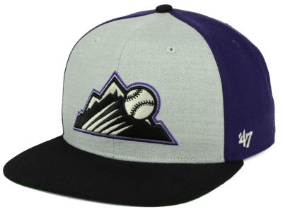 Colorado Rockies '47 MLB Heather Front Snapback Cap