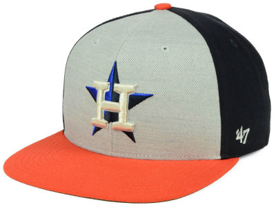 Houston Astros '47 MLB Heather Front Snapback Cap