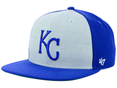 Kansas City Royals '47 MLB Heather Front Snapback Cap