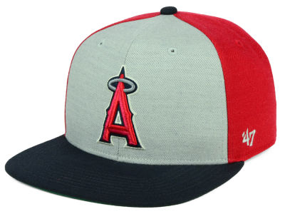 Los Angeles Angels '47 MLB Heather Front Snapback Cap