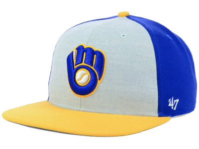 Milwaukee Brewers '47 MLB Heather Front Snapback Cap